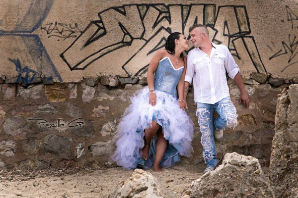 Robe de mariage en jeans